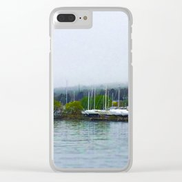 Madeline Island from the Bayfield Ferry Clear iPhone Case