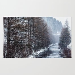The Winter Path Forest (Color) Rug