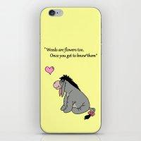 eeyore iPhone & iPod Skins featuring Eeyore weeds by BlackBlizzard