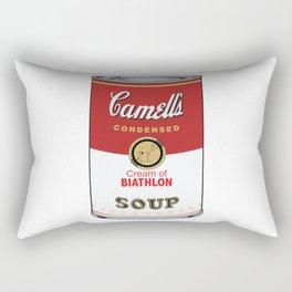 Camell's Soup CREAM OF BIATHLON Pop Art Rectangular Pillow