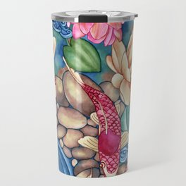 Koi Pond Travel Mug
