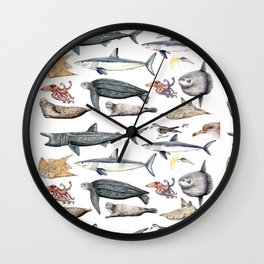 Marine wildlife Wall Clock