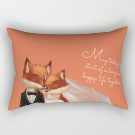 Fox Wedding Rectangular Pillow