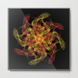 Colourfull swirl Metal Print