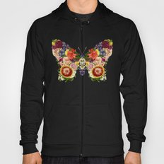 Spring Butterfly Floral Hoody