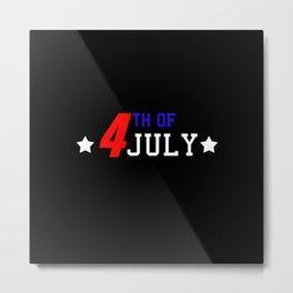 4th Of July Metal Print