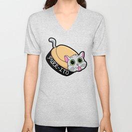 Purr-ito Kitty Burrito Unisex V-Neck