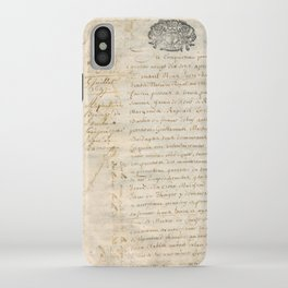 French Contract 1697 iPhone Case