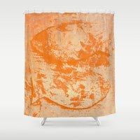 pisces Shower Curtains featuring Pisces by Fernando Vieira