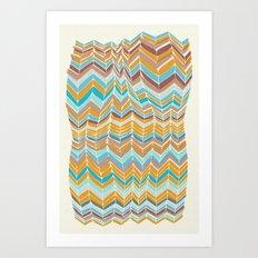 Grandma's blanket Art Print