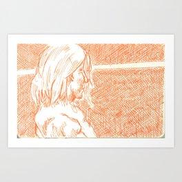 subway woman IX Art Print