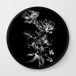 Flowers nega Wall Clock