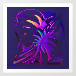Tropical Sounds under Moon Light Art Print