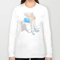 legs Long Sleeve T-shirts featuring legs by ministryofpixel