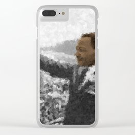 Martin Luther King Junior Wall Art Portrait, Speech, Home Decor, Dorm Decor, Freedom, Clear iPhone Case