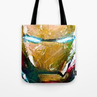 ironman Tote Bags featuring IRONMAN by DITO SUGITO