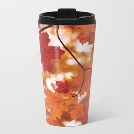 Fluttering from the Autumn tree Metal Travel Mug
