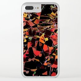 Sketchy Mosiac Clear iPhone Case