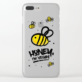Honey, i'm vegan Clear iPhone Case
