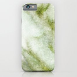 stained fantasy greenish veins iPhone Case