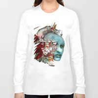 mask Long Sleeve T-shirts featuring Mask by Irmak Akcadogan