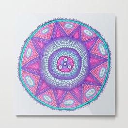 Cell Mandala 3 Metal Print