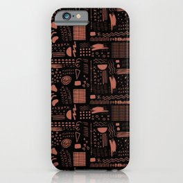 Melee (red clay on black) iPhone Case
