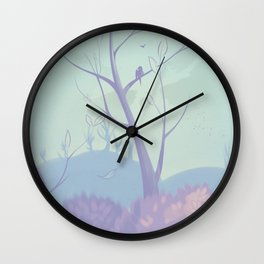 Pastel Paradise Wall Clock