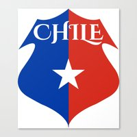 chile Canvas Prints featuring Chile by jekonu