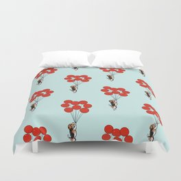 I Believe I Can Fly Beagle Duvet Cover