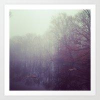 Winter Pond Art Print