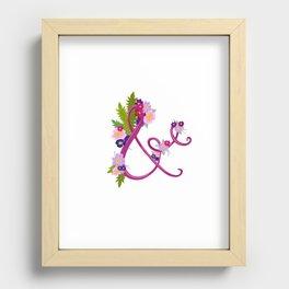 Floral Ampersand Recessed Framed Print