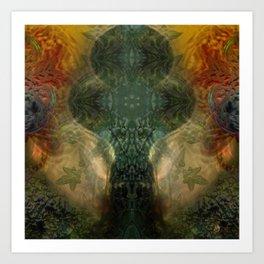 """""""The Inner Forest (caramel pattern)"""" Art Print"""