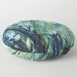 Forget me not flowers Floor Pillow