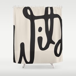 wild abstract Shower Curtain