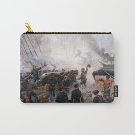 Civil War Naval Battle - Kearsarge And Alabama Carry-All Pouch