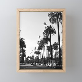Los Angeles Black and White Framed Mini Art Print