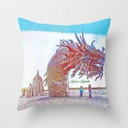 Anza - Borrego Desert Sea Dragon Throw Pillow