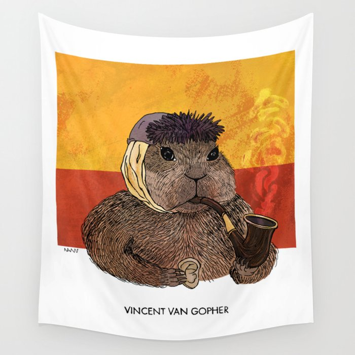 Vincent van Gopher Wall Tapestry