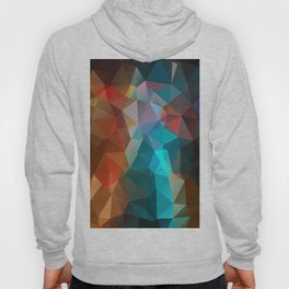 Abstract bright background of triangles polygon print illustration Hoody