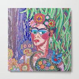 Frida Kahlo as Triste Allegria de Frida Metal Print