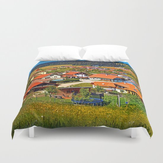 The village and the valley Duvet Cover
