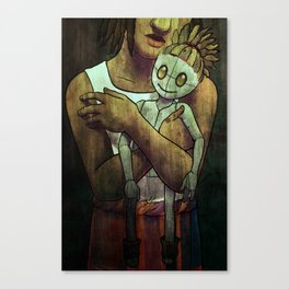 Here be Voodoo : Playing dolls Canvas Print