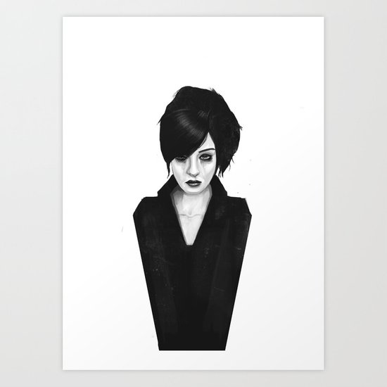 the widow Art Print