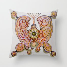 imperial butterfly Throw Pillow