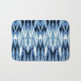 Blue Satin Shibori Argyle Bath Mat