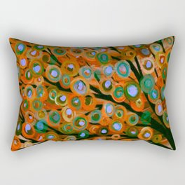 Fall Red Leaves Tree Rectangular Pillow