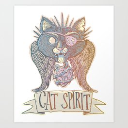 Cat Spirit Art Print