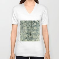 feather V-neck T-shirts featuring feather by Ingrid Beddoes