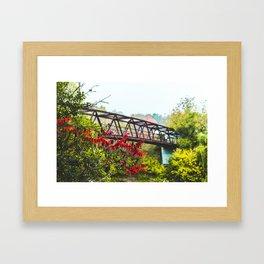 Bridge The Gap Framed Art Print